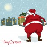 Santa coming, Christmas greeting card — Stock Photo #7868481
