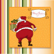 Christmas greeting card with Santa — Stock Photo