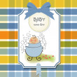 Stock Photo: Welcome baby card