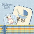 Baby boy announcement card — Foto Stock