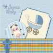 Baby boy announcement card — Stockfoto