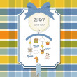 Welcome baby announcement card — Stock Photo #7869683