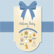 Welcome baby announcement card — Stock Photo #7869702