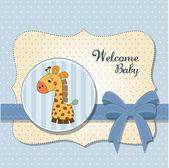 New baby card — Stock Photo