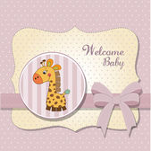 New baby card — Foto Stock