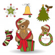 Christmas decoration elements set — Stock Photo