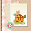 Funny baby shower card - Foto Stock