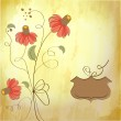 Romantic floral background — Stock Photo