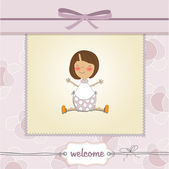 Delicate baby girl shower card — Stock Photo