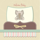 New baby card with elephant — Stock Photo
