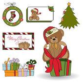 Christmas decoration elements set — Stock Photo