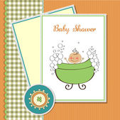 Delicate baby boy shower card — Stock Photo