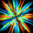 Stock Photo: Abstract color explode