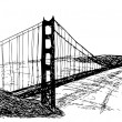 Royalty-Free Stock Obraz wektorowy: Golden gate bridge