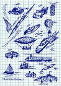 Transportation icons — Stock Vector