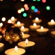 Candles and the christmas tree — Stock Photo #7927201
