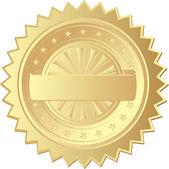 Gold seal — Stock Vector