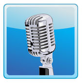 Micrófono antiguo — Vector de stock