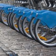 Bicycle tires in row — Stock Photo #6783238