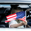 Stock Photo: Child with American flag