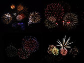 Fireworks Collection — Stock Photo