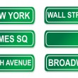 Royalty-Free Stock Photo: New York Street signs