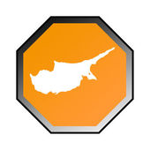 Cyprus verkeersbord — Stockfoto