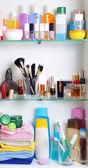 Bathroom shelf — Stock Photo