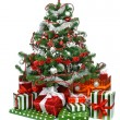 Decorated Christmas tree — Stock Photo #7387534