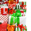 Stack of gift boxes — Stock Photo #7634792