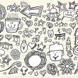 Royalty-Free Stock Vector Image: Notebook Doodle Sketch Design Elements Mega Vector Illustration Set