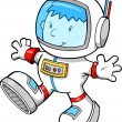 Cute Astronaut Color Cartoon boy Sketch Doodle Vector Art Illustration — Stock Vector #7944103