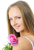 Portrait of young beautiful woman — Stock Photo