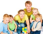 Velká rodina — Stock fotografie