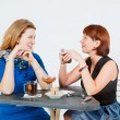 Royalty-Free Stock Photo: Two women drinking tea