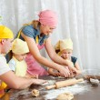 The family is preparing — Stock Photo