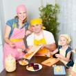 The family is preparing a home — Stock Photo