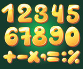 Hand drawn numerals — Stock Vector