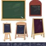 Set of menu boards — Stock Vector