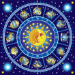 Stock Vector: Horoscope circle