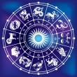 Horoscope circle — Stock Vector