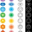 Royalty-Free Stock Imagen vectorial: Seven chakras
