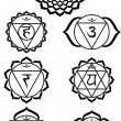 Royalty-Free Stock Vector Image: Seven chakras