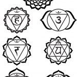 sieben chakras — Stockvektor