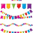 Royalty-Free Stock Vector Image: Flag garland