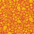 Seamless Halloween background. - Stock Vector