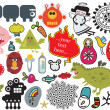 Mix of different vector images. vol.28 - Stock Vector