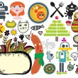 Royalty-Free Stock 矢量图片: Mix of different vector images and icons. vol.33