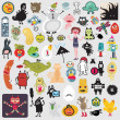 Royalty-Free Stock Vector Image: Big set of different cute monsters #2.