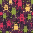 Royalty-Free Stock Vector Image: Cute robots seamless pattern.